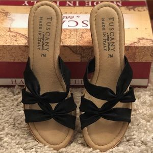 Tuscany by Easy Street Cork Wedges